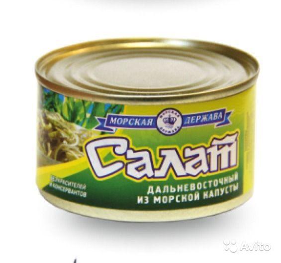 Описание товара 4607019901258 салат из морской капусты,